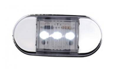 Blue Maxxima 3 LED Chrome Micro Interior Courtesy Light