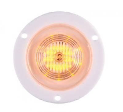 Maxxima M09100WCL 9 LED White 2 Round Interior Courtesy Light