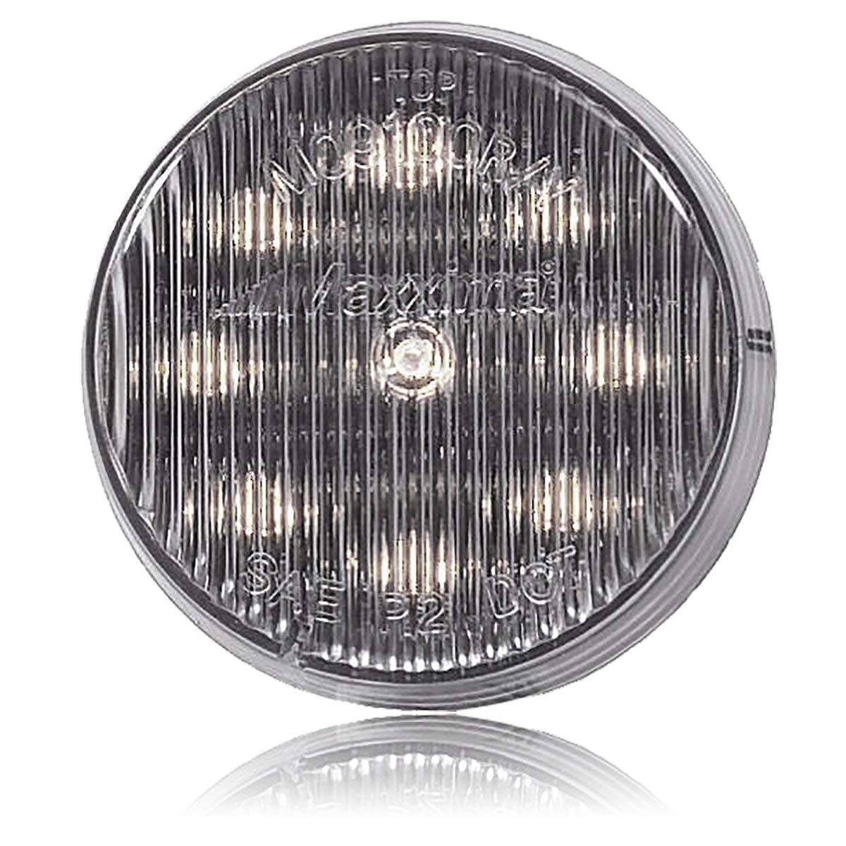 "Round Chrome 2/"" Light Bezel fits standard 2/"" grommet mount marker lights"