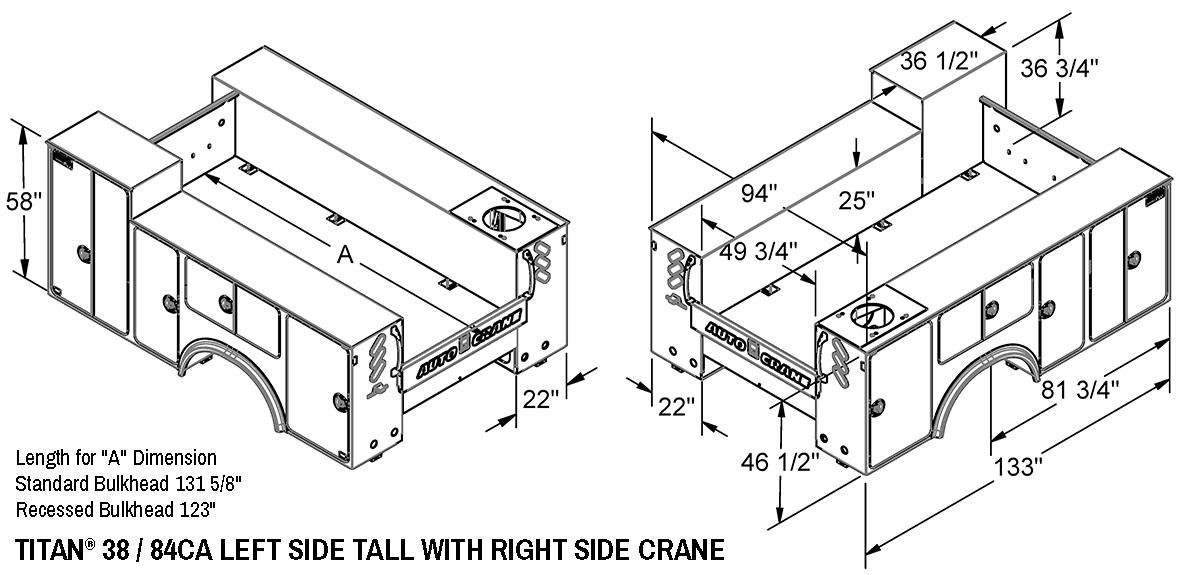 Auto Crane Auto Crane Titan Crane Body Titan 38 Titan 38