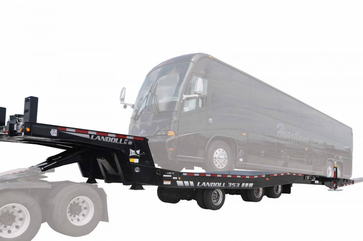 landoll bus hauler trailer model 353 rh nelsontruck com RGN Trailer RGN Trailer