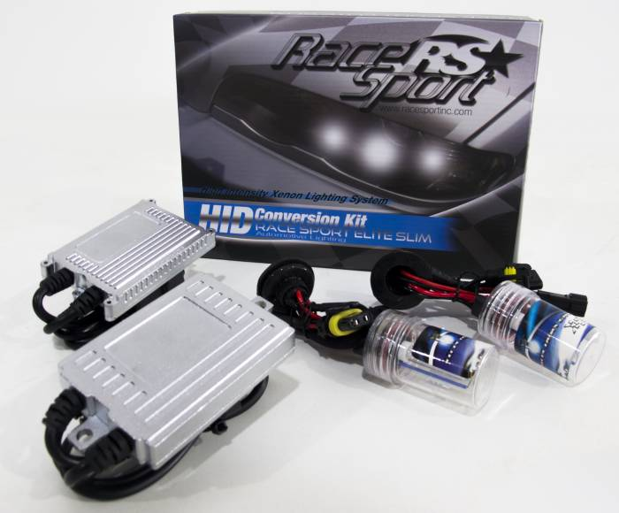 Race Sport - Race Sport H4 5K Bi-Xenon 55W Slim HID Kit (H4-3-5K-BI-SLIM-55W)
