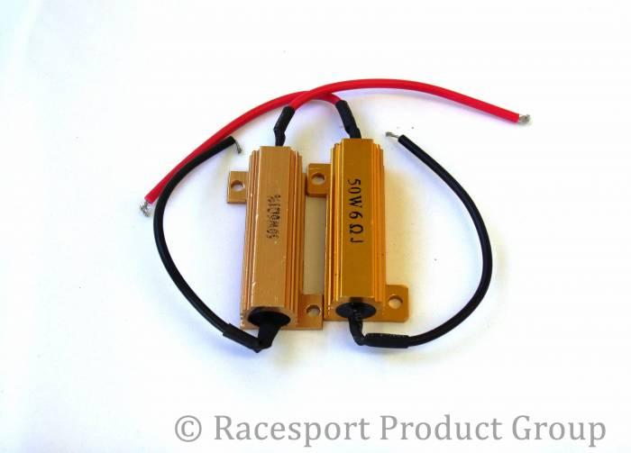 Race Sport - Race Sport 6 Ohm 50 Watt Load Resistors - PAIR (6OHM50WATT)