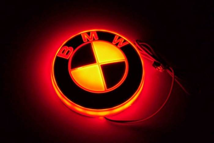Race Sport - Race Sport LED Illumination Badge (BMW-Red) (BMW-LED-RED)