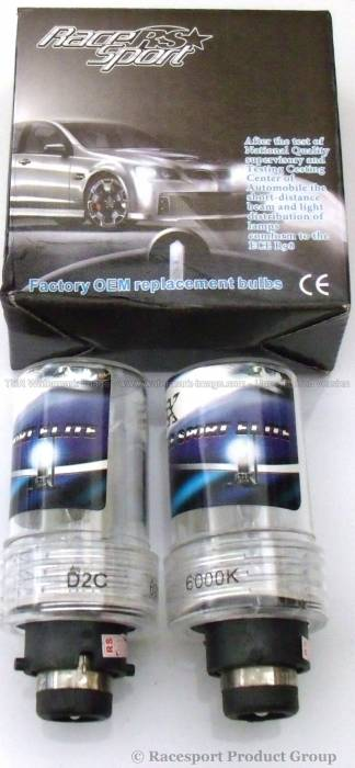 Race Sport - Race Sport D2 10K Replacement Bulb (Pair) (D2-10K-SB-RB)