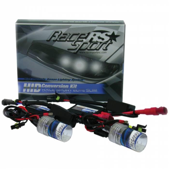 Race Sport - Race Sport H4-3 Green 35 Watt Elite Slim Bi-Xenon HID Kit (H4-3-GREEN-BI-SLIM)