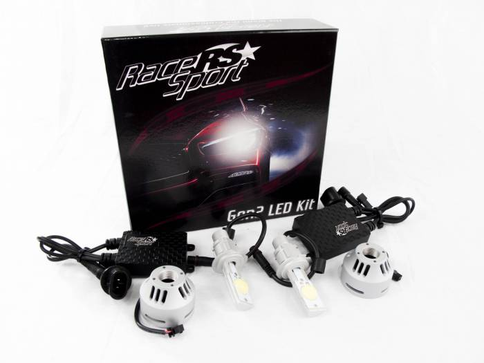 Race Sport - Race Sport H7 G2 5500K TRUE LED Headlight Kit (H7-LED-G2-KIT)