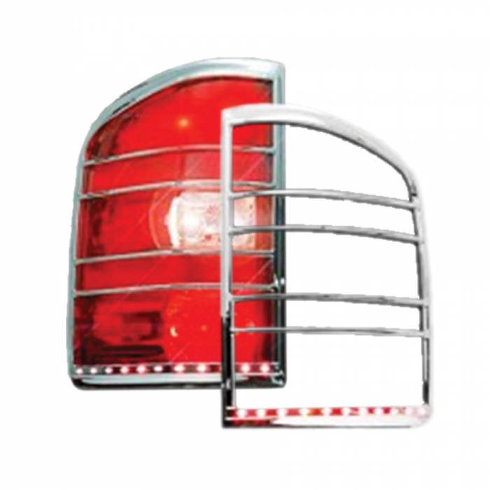 Race Sport - Race Sport 07-13 Chevrolet Silverado 1500/2500 HD LED Taillight Bezel (RS-0713CHEVY2-TLB)