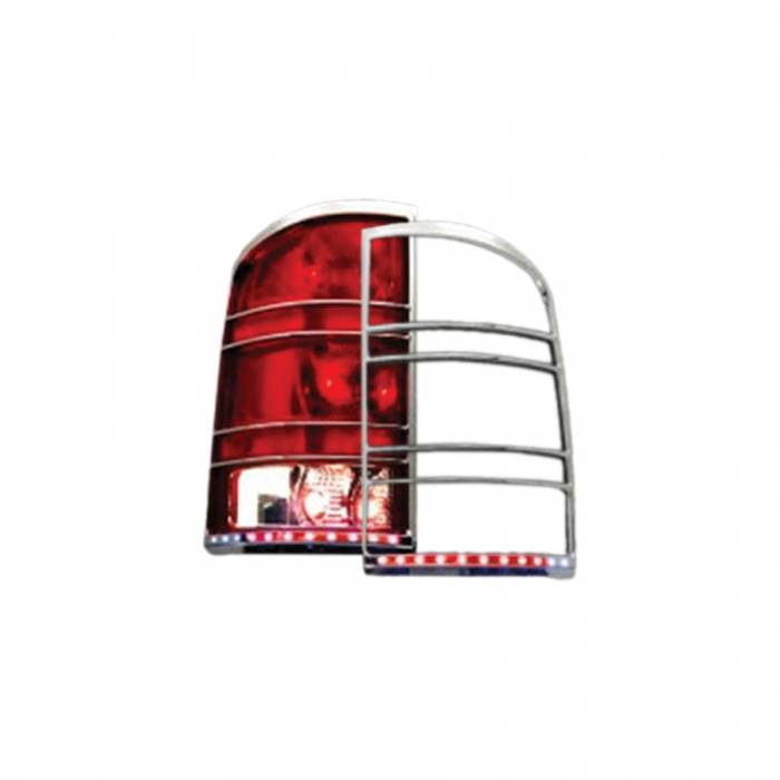 Race Sport - Race Sport 07-13 GMC Sierra LED Taillight Bezel (RS-0713GMC-TLB)