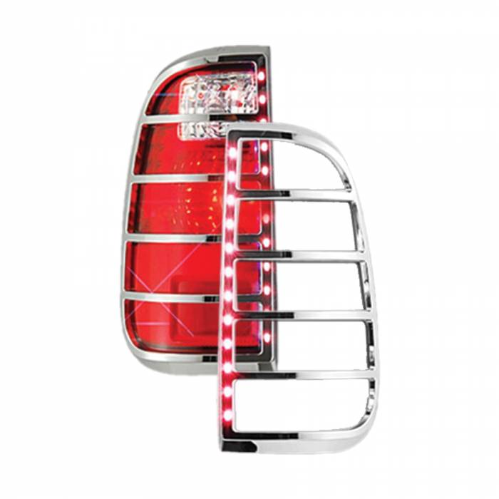 Race Sport - Race Sport 08-13 Ford F250/350 Super Duty LED Taillight Bezel (RS-0813FORD2-TLB)