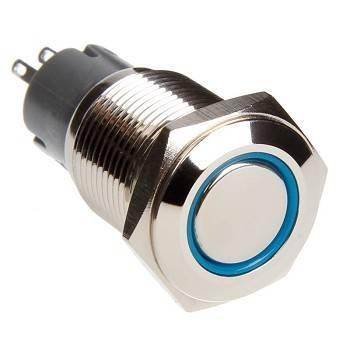 Race Sport - Race Sport LED Momentary Switch (Blue) (RS-16MM-LEDB)