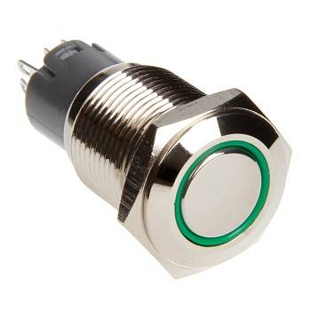 Race Sport - Race Sport LED Momentary Switch (Green) (RS-16MM-LEDG)