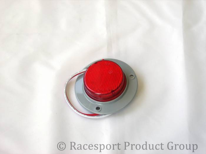 """Race Sport - Race Sport 2"""" Round Red (w/ 3 Hole Mount) (RS-2-3HR)"""