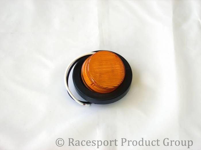 "Race Sport - Race Sport 2"" Round Amber (w/ Grommet) (RS-2-GA)"