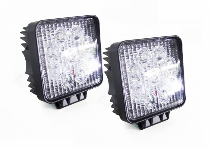 "Race Sport - Race Sport 4"" Square LED Work Spot Light 27W/1,755LM (Pair) (RS-27W-S-2)"