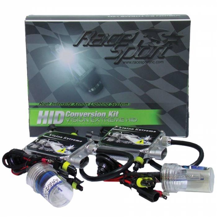 Race Sport - Race Sport H4 10K 35 Watt Vision Extreme HID Kit (H4-10K-VE)